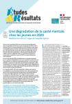 N°1210 - Octobre 2021 - Une dégradation de la santé mentale chez les jeunes en 2020. Réusltats issus de la 2e vague de l'enquête ÉpiCov (Bulletin de Etudes et Résultats, N°1210 [06/10/2021])