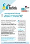 N°1209 - Octobre 2021 - Les demandes de soins liés à la santé mentale restent plus fréquentes au printemps 2021 (Bulletin de Etudes et Résultats, N°1209 [06/10/2021])