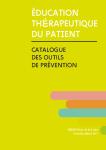 Education thérapeutique du patient. Catalogue des outils de prévention