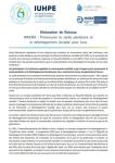 Déclaration de Rotorua. WAIORA : Promouvoir la santé planétaire et le développement durable pour tous