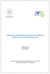 Evaluation du déploiement de la démarche d'évaluation d'impact sur la santé en Pays de la Loire. Rapport final