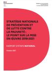 Stratégie nationale de prévention et de lutte contre la pauvreté : le point sur la mise en oeuvre 2018-2021. Rapport d'étape national