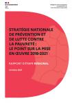 Stratégie nationale de prévention et de lutte contre la pauvreté : le point sur la mise en oeuvre 2018-2021. Rapport d'étape régional
