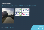 Évaluation d'Impacts en Santé. PRU2. Quartier Chemin Vert. Saumur. Rapport final